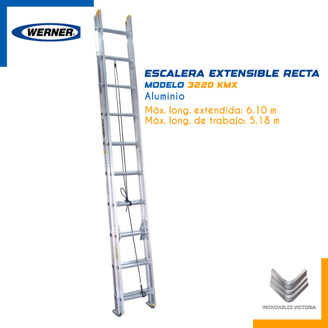 Escalera Extensible Recta de Aluminio