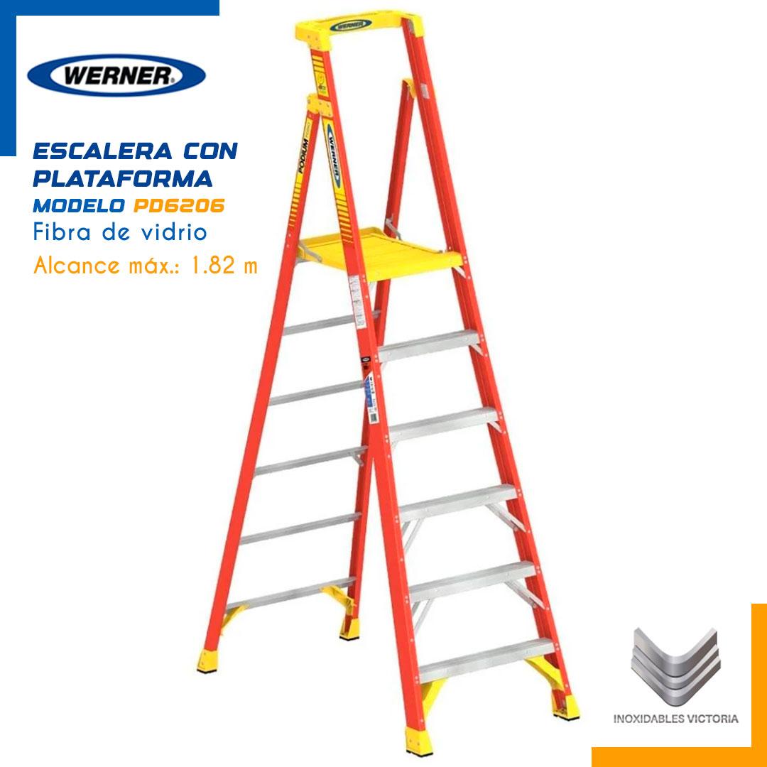 Escalera de Fibra de Vidrio con Plataforma