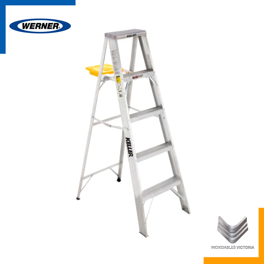 Escalera de Tijera de Aluminio con Meseta