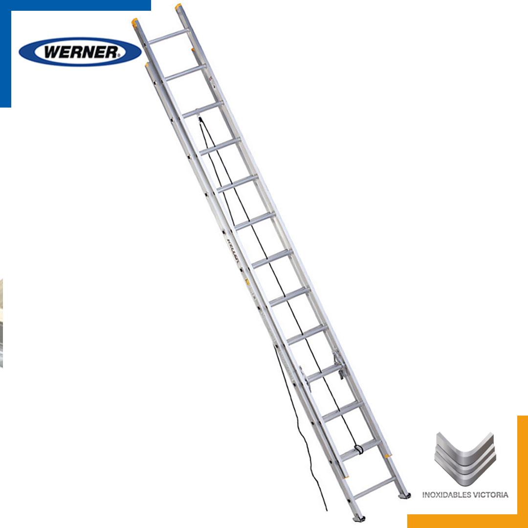 Escalera de aluminio, Werner 3224KMX; Inoxidables Victoria
