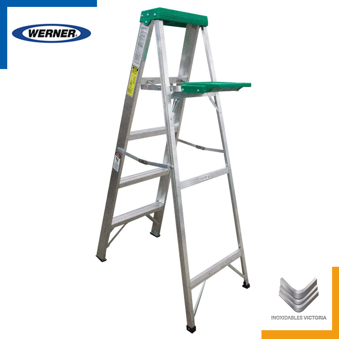 Escalera de aluminio, Werner 925MX; Inoxidables Victoria