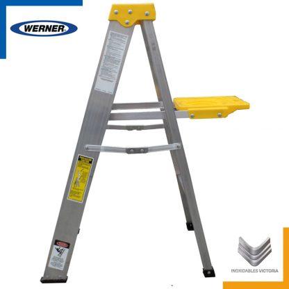 Escalera de aluminio, Werner 933ALMX; Inoxidables Victoria