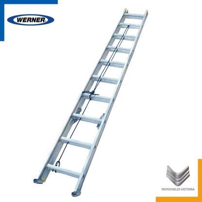 Escalera de aluminio, Werner 3220MX; Inoxidables Victoria