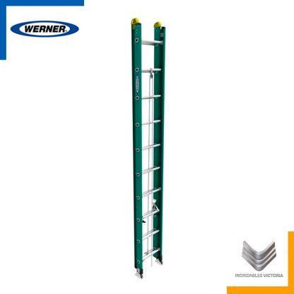 Escalera Werner de fibra de vidrio, modelo D5920-2MX; Inoxidables Victoria
