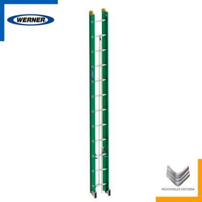 Escalera Werner de fibra de vidrio, modelo D5924-2MX; Inoxidables Victoria