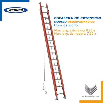 Escalera de Extensión de Fibra de Vidrio