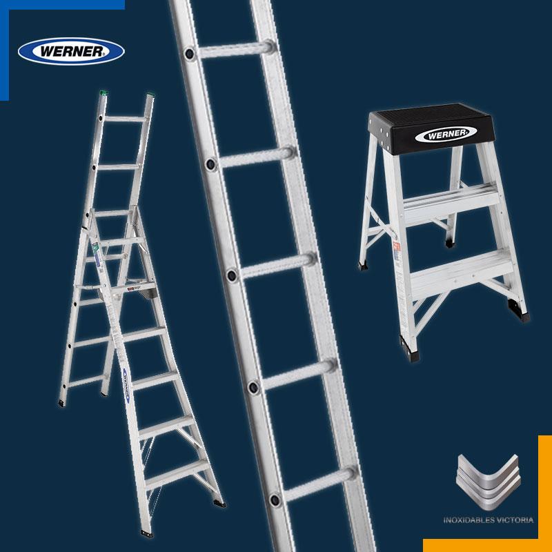 Escaleras de aluminio Werner; Inoxidables Victoria