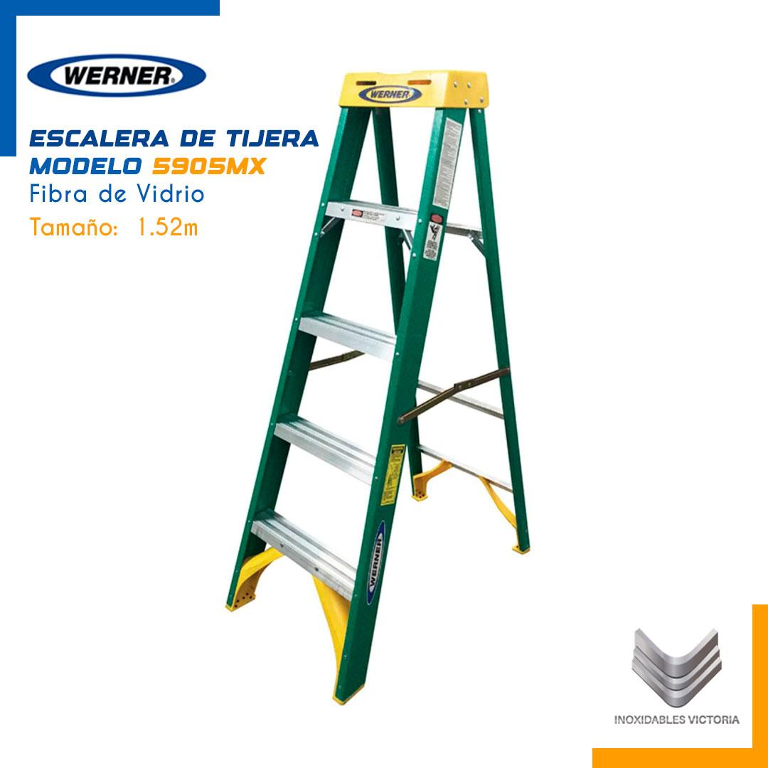 Escalera de Tijera de Fibra de Vidrio