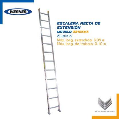 Escalera Recta de Extensión Tipo III de Aluminio marca Werner. Modelo 3210 KMX.